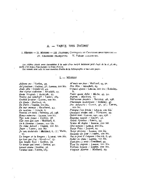 Bibliographie des éditions d'Adrian Le Roy et Robert Ballard, extrait 7