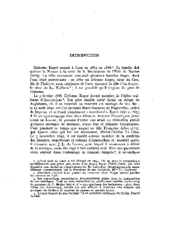 Bibliographie des éditions musicales publiées par Estienne Roger et Michel-Charles Le Cène, extrait 2
