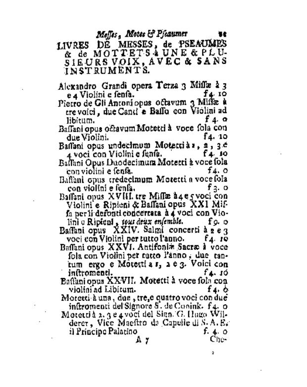 Bibliographie des éditions musicales publiées par Estienne Roger et Michel-Charles Le Cène, extrait 6