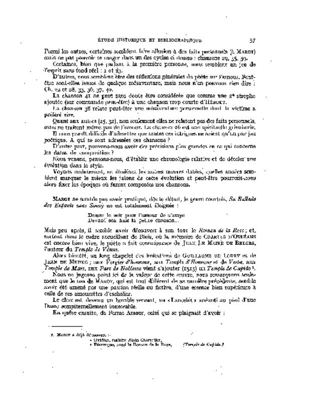 Les Chansons de Clément Marot, extrait 3