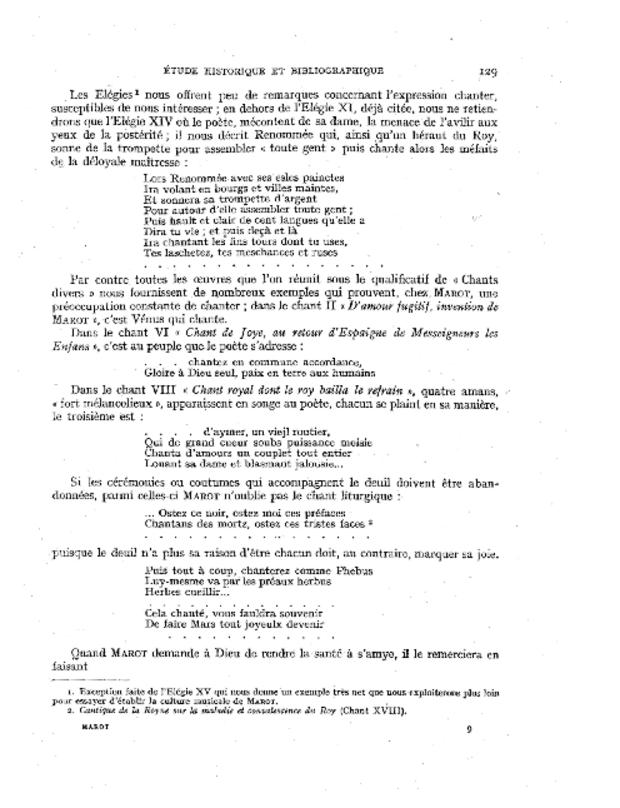 Les Chansons de Clément Marot, extrait 4