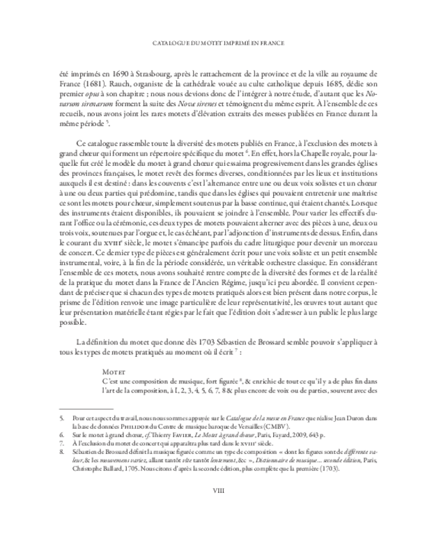 Catalogue du motet imprimé en France (1647-1789), extrait 3