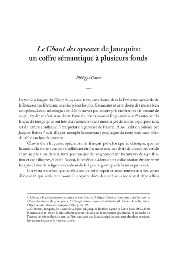 Clément Janequin: un musicien au milieu des poètes, extrait 6
