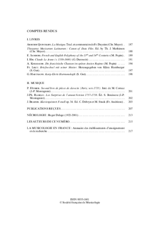 Revue de musicologie, t. 87/1 (2001), extrait 2
