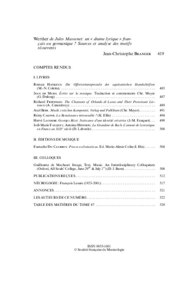 Revue de musicologie, t. 87/2 (2001), extrait 2