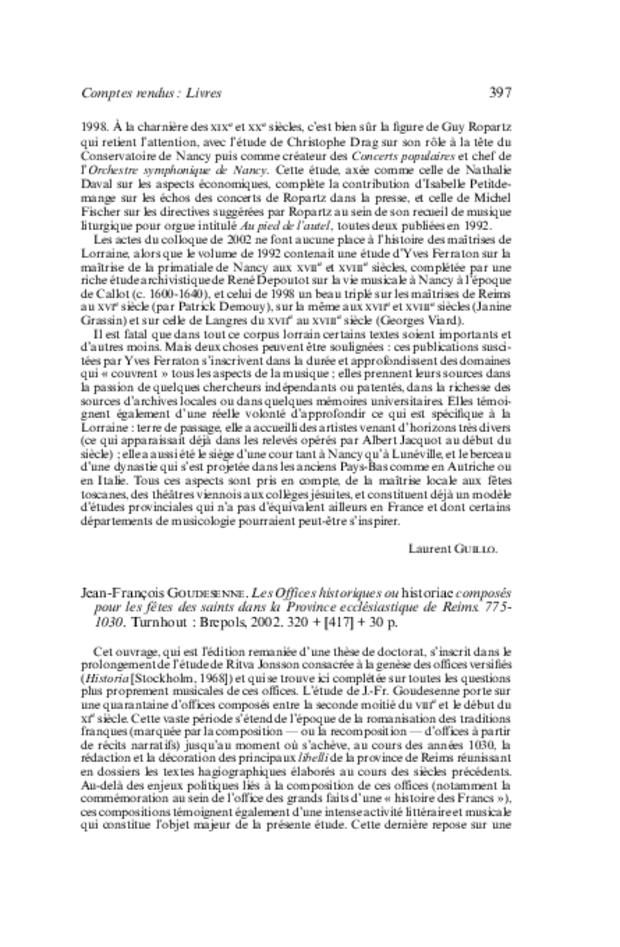 Revue de musicologie, t. 89/2 (2003), extrait 8