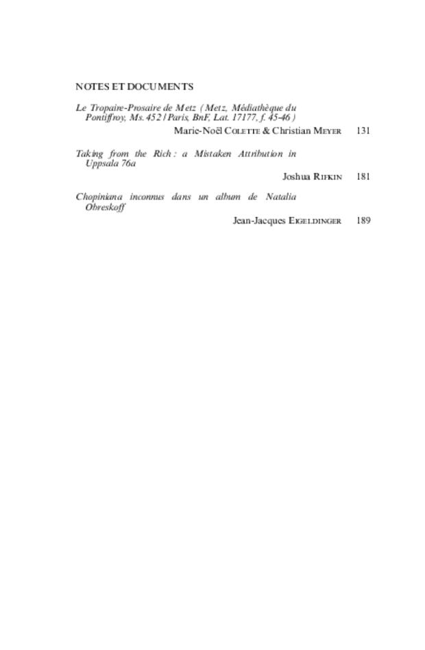 Revue de musicologie, t. 96/1 (2010), extrait 2