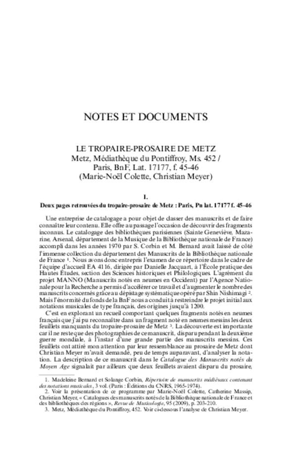 Revue de musicologie, t. 96/1 (2010), extrait 9