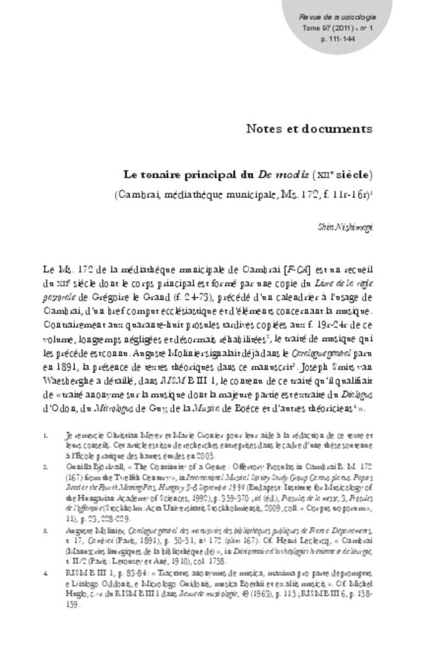 Revue de musicologie, t. 97/1 (2011), extrait 11