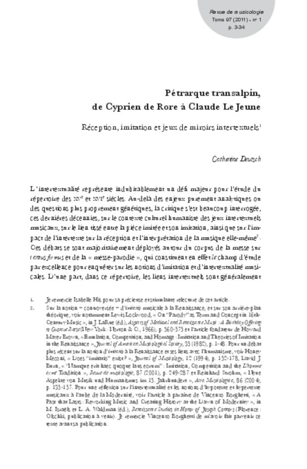 Revue de musicologie, t. 97/1 (2011), extrait 3