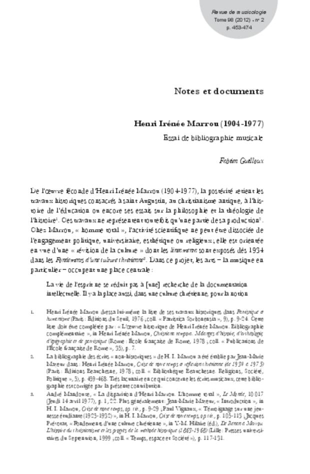 Revue de musicologie, t. 98/2 (2012), extrait 11