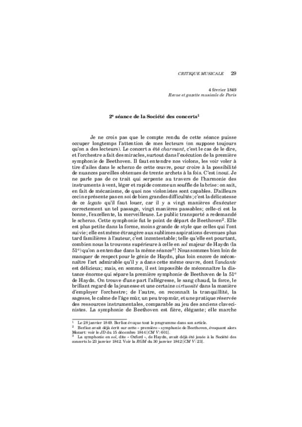 Critique musicale, volume 7: 1849-1851, extrait 5