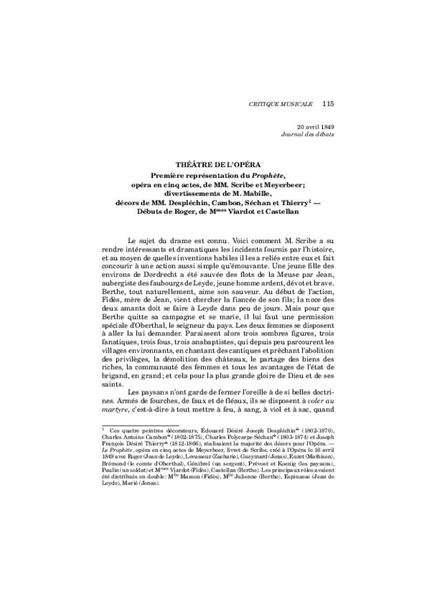 Critique musicale, volume 7: 1849-1851, extrait 6