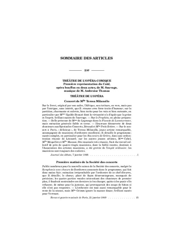 Critique musicale, volume 7: 1849-1851, extrait 7