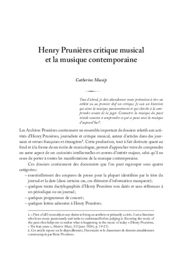 Henry Prunières (1886-1942), extrait 12