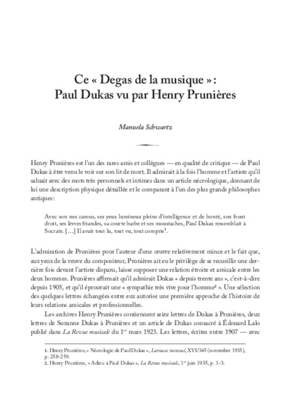 Henry Prunières (1886-1942), extrait 8
