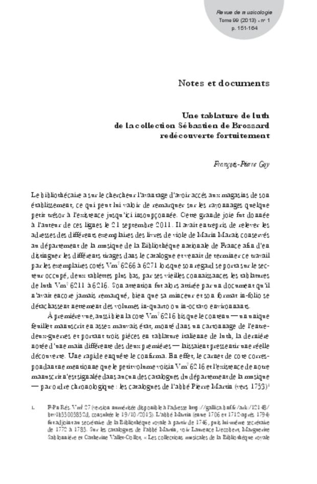 Revue de musicologie, t. 99/1 (2013), extrait 21