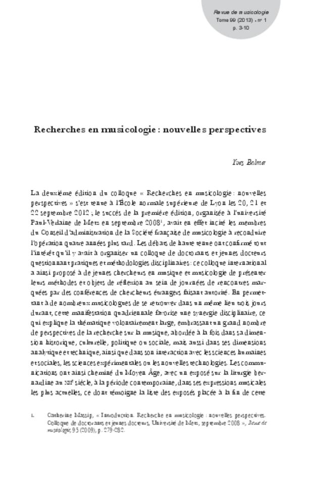 Revue de musicologie, t. 99/1 (2013), extrait 3