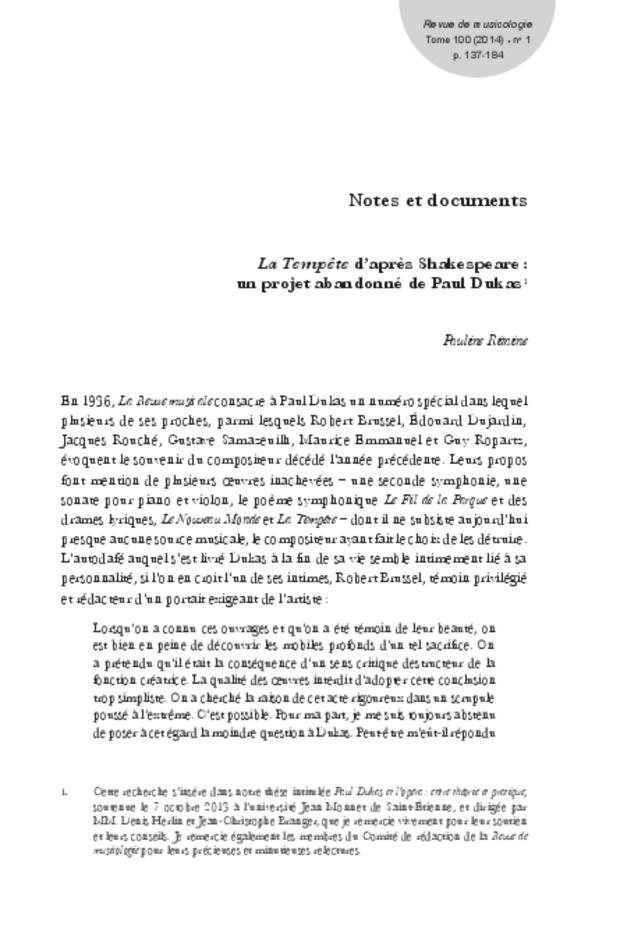 Revue de musicologie, t. 100/1 (2014), extrait 11