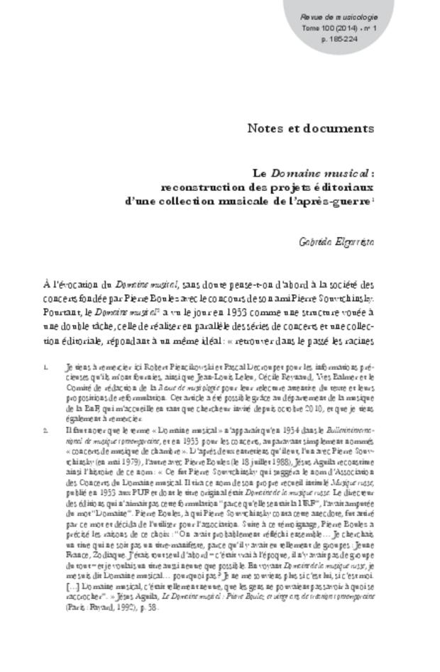 Revue de musicologie, t. 100/1 (2014), extrait 13