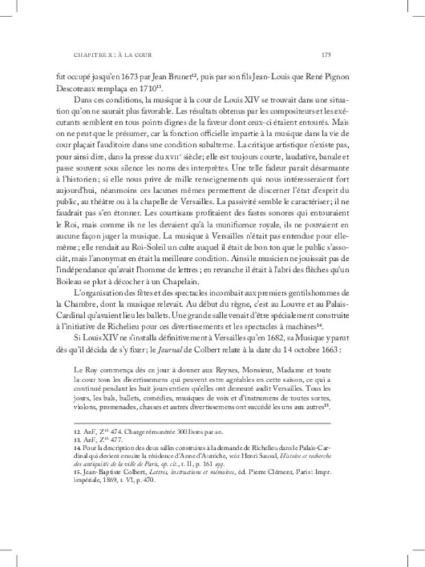 Les Violons de la musique de la chambre du roi sous Louis XIV, extrait 11