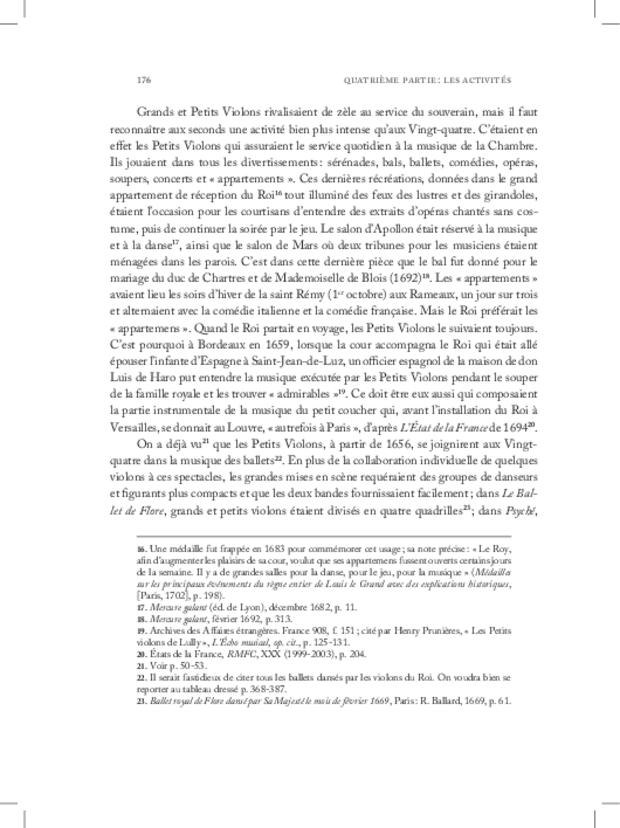 Les Violons de la musique de la chambre du roi sous Louis XIV, extrait 12