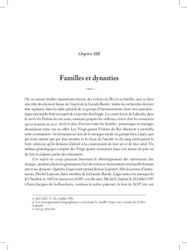 Les Violons de la musique de la chambre du roi sous Louis XIV, extrait 13
