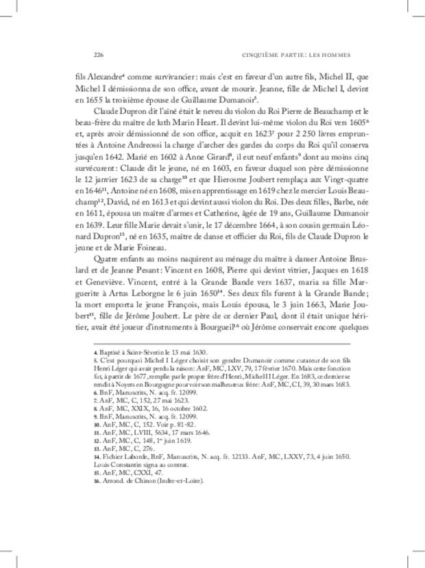 Les Violons de la musique de la chambre du roi sous Louis XIV, extrait 14