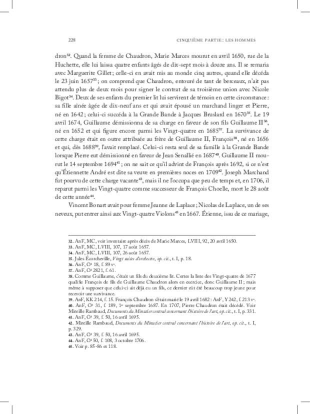 Les Violons de la musique de la chambre du roi sous Louis XIV, extrait 16