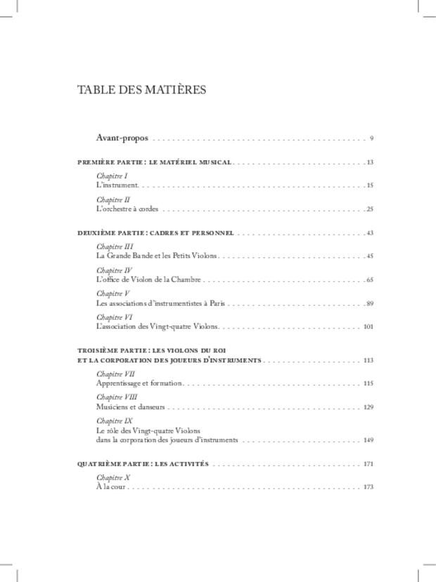 Les Violons de la musique de la chambre du roi sous Louis XIV, extrait 20