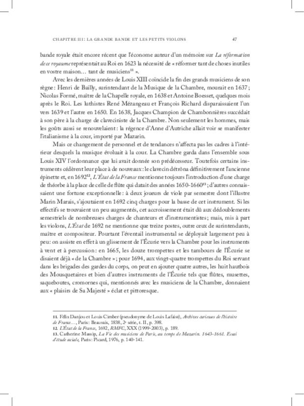 Les Violons de la musique de la chambre du roi sous Louis XIV, extrait 3