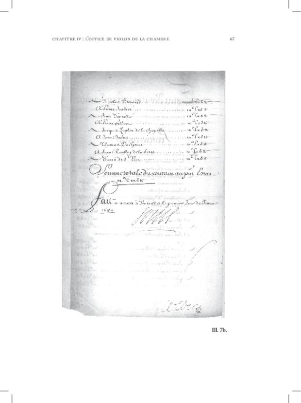 Les Violons de la musique de la chambre du roi sous Louis XIV, extrait 7
