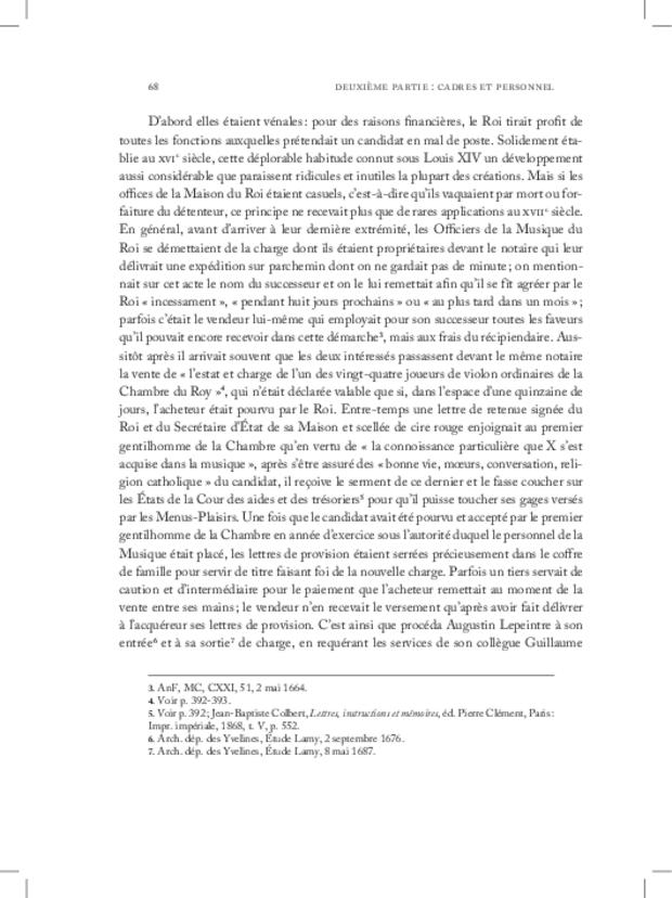 Les Violons de la musique de la chambre du roi sous Louis XIV, extrait 8