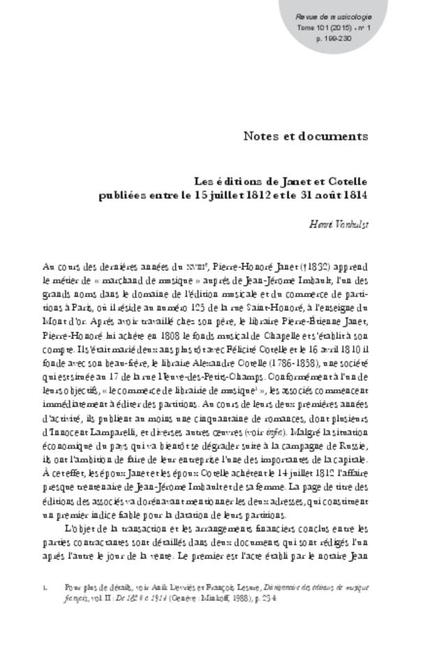 Revue de musicologie, t. 101/1 (2015), extrait 13