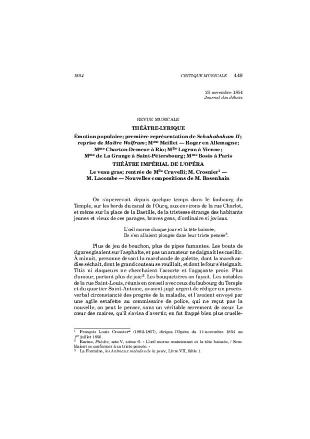 Critique musicale, volume 8: 1852-1855, extrait 13