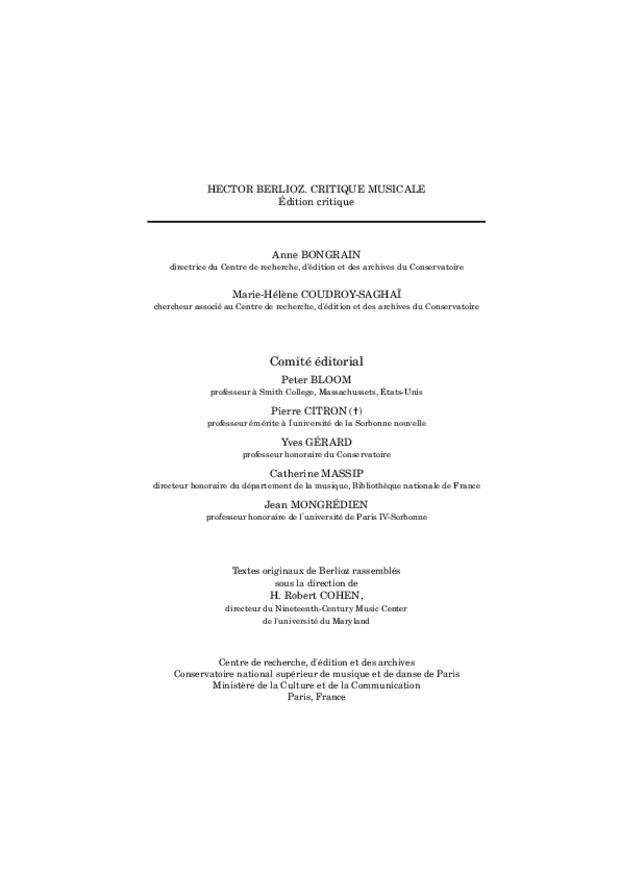 Critique musicale, volume 8: 1852-1855, extrait 7