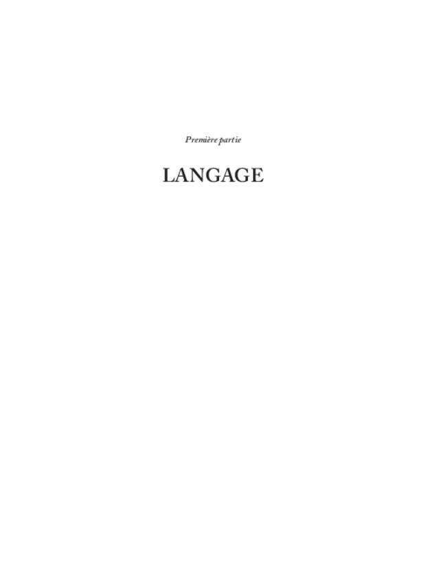 Du langage au style, extrait 5