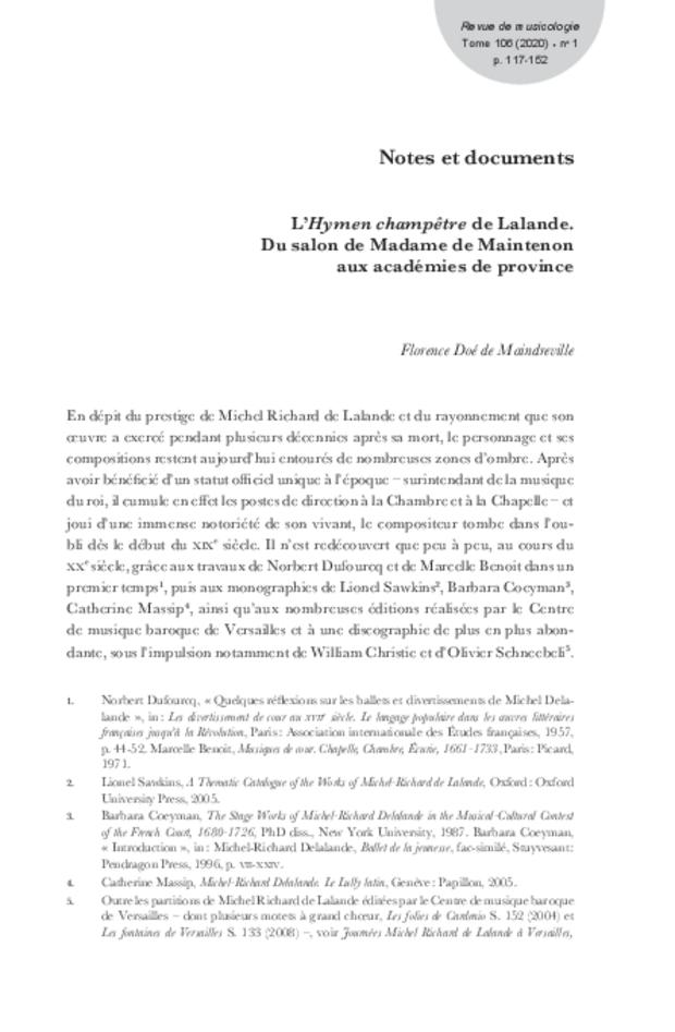 Revue de musicologie, t. 106/1 (2020), extrait 13