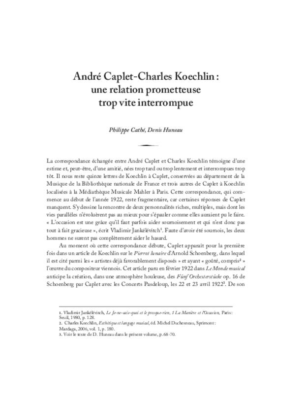 André Caplet, compositeur et chef d'orchestre, extrait 10
