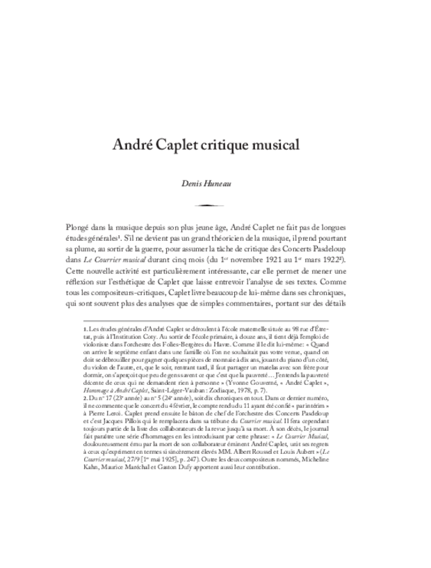 André Caplet, compositeur et chef d'orchestre, extrait 12