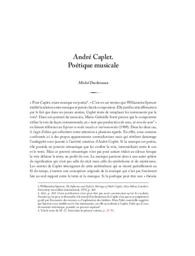 André Caplet, compositeur et chef d'orchestre, extrait 13