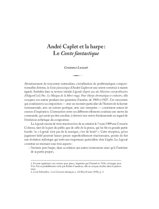 André Caplet, compositeur et chef d'orchestre, extrait 17