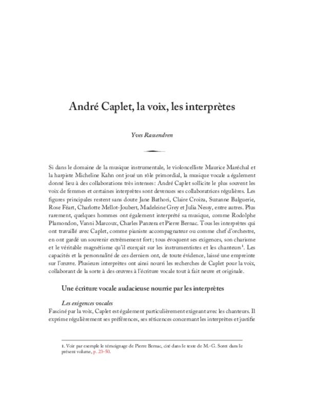 André Caplet, compositeur et chef d'orchestre, extrait 19