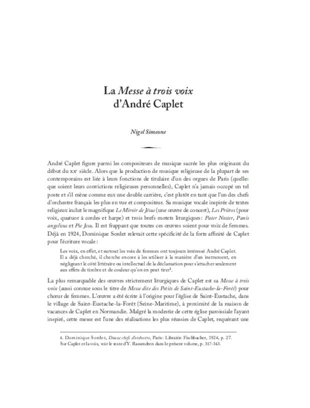 André Caplet, compositeur et chef d'orchestre, extrait 24