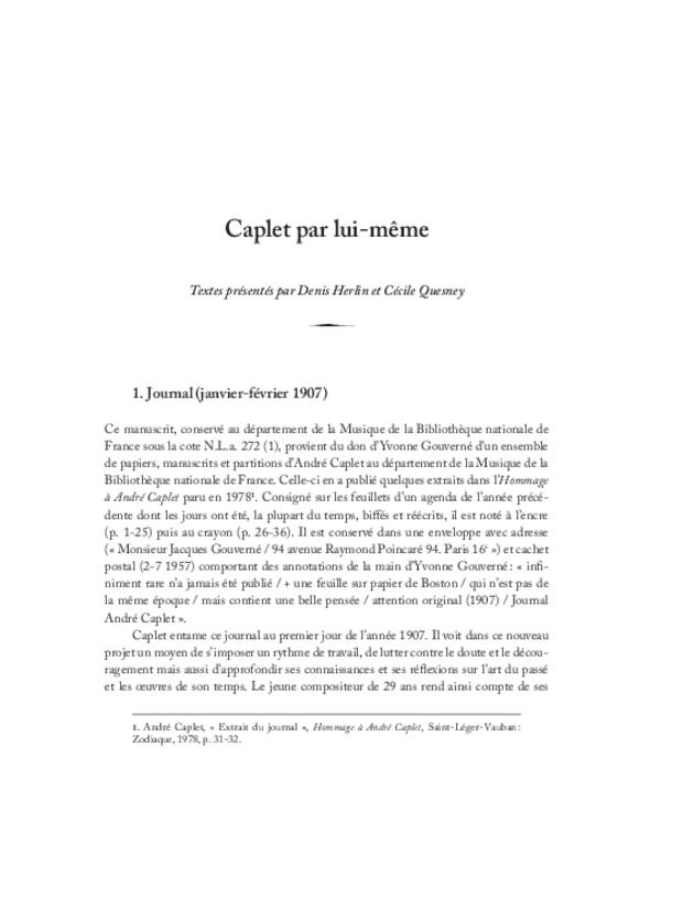 André Caplet, compositeur et chef d'orchestre, extrait 29