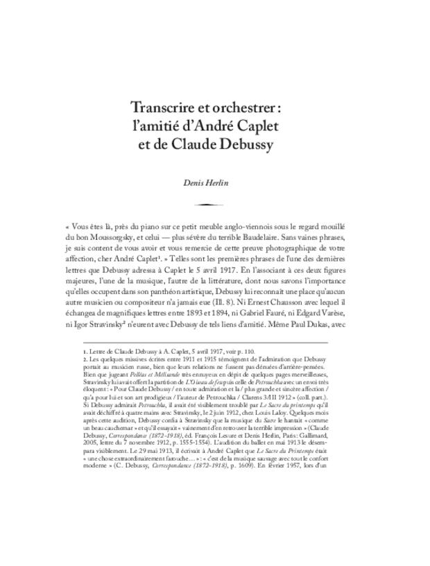 André Caplet, compositeur et chef d'orchestre, extrait 5