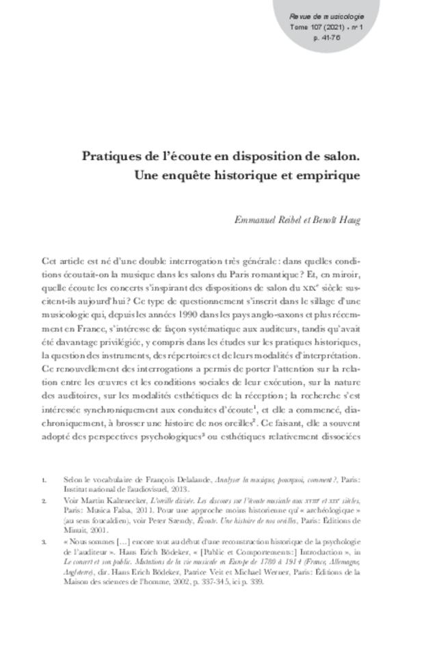 Revue de musicologie, t. 107/1 (2021), extrait 3