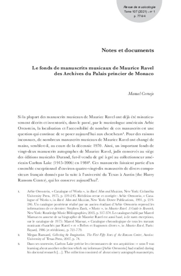 Revue de musicologie, t. 107/1 (2021), extrait 5