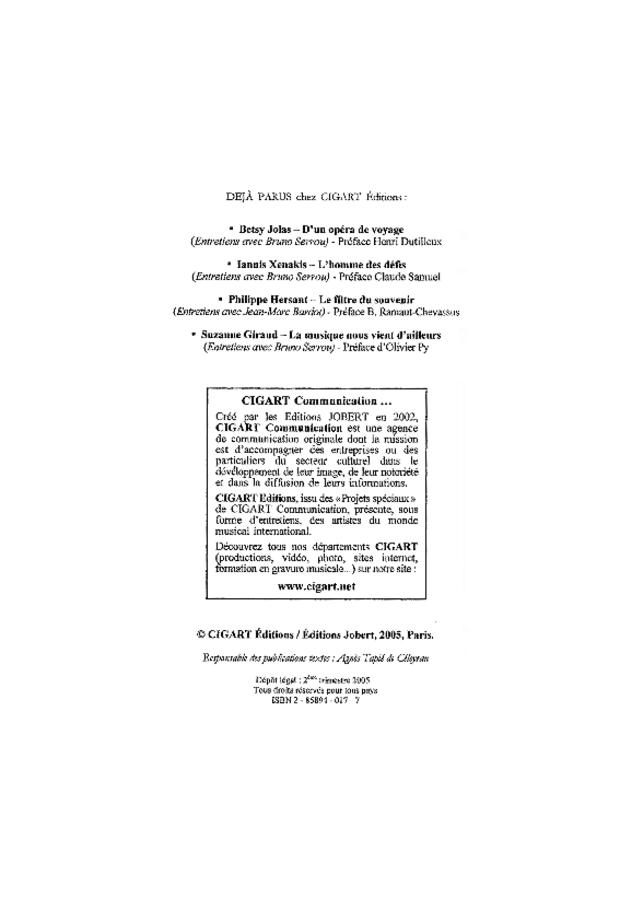 Dominique Lemaître: l'instant et l'éternité, extrait 2