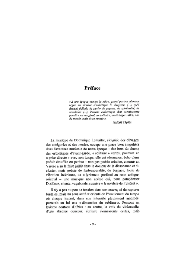 Dominique Lemaître: l'instant et l'éternité, extrait 3